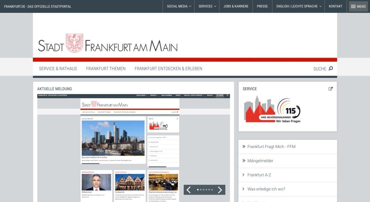 Webseite Frankfurt am Main